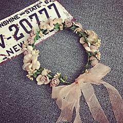 koreansk vakker rose blomst kranser pannebånd for dame bryllupsfesten ferie hår smykker