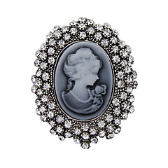 de cristal de moda de prata da antiguidade do vintage broche broches jóias broche de strass rainha das mulheres