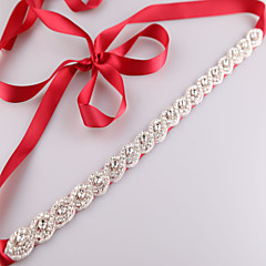 Satin Wedding Party/ Evening Dailywear Sash-Beading Appliques Rhinestone Beading Appliques Rhinestone