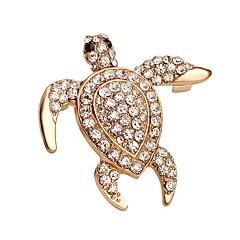 Homens Feminino Broches Moda Cristal Jóias Para Casamento Festa Ocasião Especial Aniversário Diário Casual