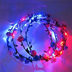 lys opp ledet blomst krone krysantemum utslipp pannebånd LED lys hodeplagg halloween juleferien varer