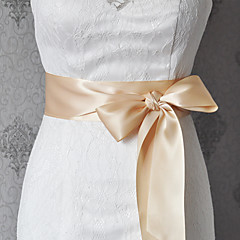 Satin Wedding / Party/ Evening / Dailywear Sash Women's 98 ½in(250cm)