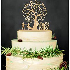 Kakepynt Ikke-personalisert Klassisk Par / Hjerter Akryl Bryllup / Jubileum / Bridal Shower SvartHage Tema / Asiatisk Tema / Blomster