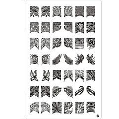 42 kuvio kynsikoristeet leima leimaamalla kuvan mallin levy