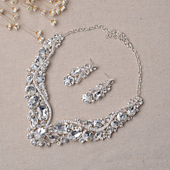Jewelry Set Women's Anniversary / Wedding / Engagement / Party / Special Occasion Alloy Rhinestone Silver