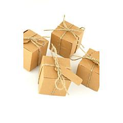 50 Adet/Set Favor Tutucu-Kubik Kart Kağıdı Hediye Kutuları Kişiselleştirilmemiş
