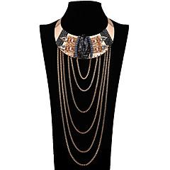 שרשראות שרשראות הצהרה תכשיטים חתונה Party יום הולדת יומי Flower Shape Euramerican סגסוגת 1pc מתנות זהב צהוב