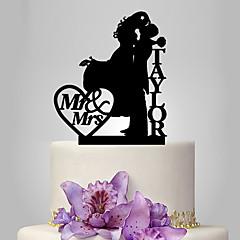Figurky na svatební dort Přizpůsobeno Klasický pár Akryl Svatba Výročí Červená Zlatá Stříbrná Černá Klasický motiv OPP