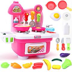 Tue so als ob du spielst Spielzeug-Küchen-Sets Toy Foods Spielzeuge Jungen Mädchen