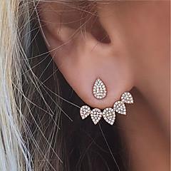 Femme Boucles d'oreille goujon Boucles d'Oreilles Stylées Devant Derrière Strass bijoux de fantaisie Mode euroaméricains Alliage Larme