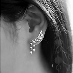 Femme Boucles d'oreille goujon Mode bijoux de fantaisie Alliage Forme de Feuille Bijoux Pour Soirée Anniversaire Quotidien