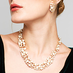 Žene Komplet nakita Viseće naušnice Igazgyöngy nyaklánc Moda Europska Vjenčan Elegantno kostim nakit Biseri Umjetno drago kamenje Legura