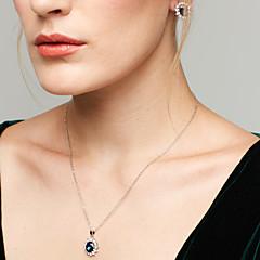 Žene Komplet nakita Sitne naušnice Ogrlice s privjeskom Sapphire Moda Europska Elegantno kostim nakit Dragi kamen Kubični Zirconia