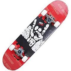 31 inç Komple Kaykay Standart Skateboards Hafif Akçaağaç 608ZZ-Beyaz Kırmzı Mavi Desen