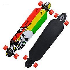 32 inç Komple Kaykay Longboards Kaykay Standart Skateboards Hafif Akçaağaç 608ZZ-Siyah Sarı Yeşil Desen