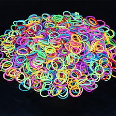600pcs rainbow color tkalcovský stav světelný móda Loom pásmo (1package s klip, různé barvy)
