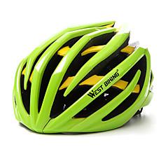 West biking Homens Mulheres Moto Capacete 24 Aberturas Ciclismo Ciclismo Alpinismo L: 59-63 cm ESP+PC