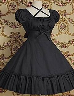 Yksiosainen/Mekot Klassinen ja Perinteinen Lolita Vintage-kokoelma Cosplay Lolita-mekot Musta Harmaa Fuksia Vintage Puhvihiha