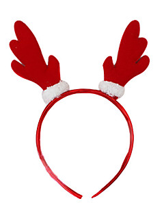 Headpiece Cosplay Festival/Holiday Halloween Costumes Red Solid Headpiece Halloween / Carnival Unisex Polyester