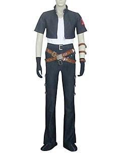 Inspireret af Kongerige  Hjerter Squall video Spil Cosplay Kostumer Cosplay Suits Kort ÆrmeJakke / Bukser / Armbind / Handsker / Talje