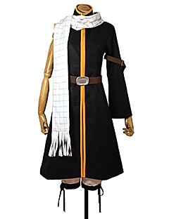 Inspiré par Fairy Tail Natsu Dragneel Manga Costumes de Cosplay Costumes Cosplay Mosaïque Manteau Pantalon Ceinture Echarpe PourMasculin