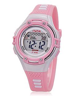 Copii Ceas Sport Ceas de Mână Quartz LCD Silicon Bandă Casual Negru Alb Pink Alb Negru Roz