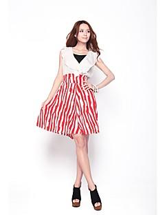 Zoely Damski Słodki Wysoki stan niepokoju Streszczenie Stripe-Line BODYCON Sukienka 101122L086