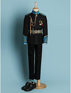 Полиэфир Детский праздничный костюм - 4 Куски Включает в себя Жакет / Рубашка / Брюки / Широкий пояс