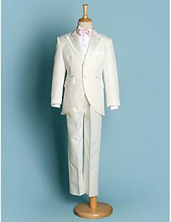 Полиэфир Детский праздничный костюм - 5 Куски Включает в себя Жакет / Рубашка / Брюки / Широкий пояс / Галстук-бабочка