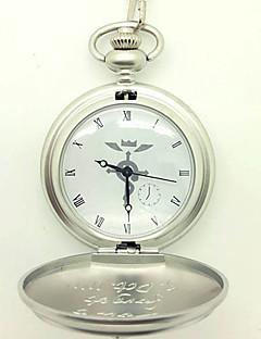 Relógio Inspirado por Fullmetal Alchemist Edward Elric Anime Acessórios de Cosplay Relógio Prateado Liga Masculino