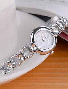 לנשים שעוני אופנה קווארץ סגסוגת להקה מדבקות עם נצנצים Heart Shape כסף לבן שחור סגול ורוד כחול בהיר