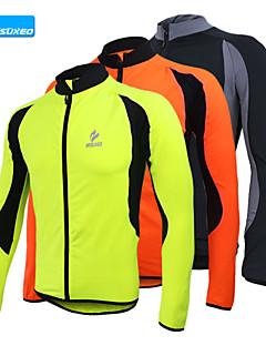 Arsuxeo Jaqueta para Ciclismo Homens Manga Longa Moto Camisa/Roupas Para Esporte Blusas Térmico/Quente Secagem Rápida Design Anatômico