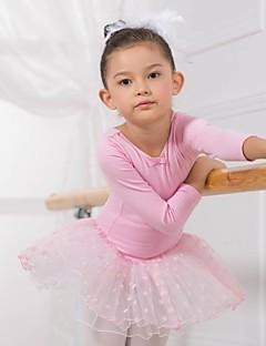 בלט חלקים עליונים שמלות וחצאיות טוטוס שמלות בגדי ריקוד ילדים כותנה שרוול ארוך