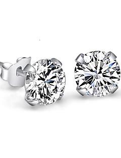 Damen Ohrstecker Kristall Imitation Diamant Simple Style Brautkleidung Modeschmuck Sterling Silber Krystall Strass Vier Krappen Schmuck