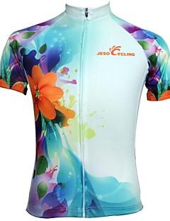 JESOCYCLING Maillot de Cyclisme Femme Manches Courtes Vélo Maillot Hauts/Tops Séchage rapide Respirable Anti-transpiration Polyester