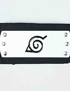 Korut / Headpiece Innoittamana Naruto Naruto Uzumaki Anime Cosplay-Tarvikkeet Headpiece Musta Metalliseos / Teryleeni Uros