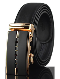 Men's Simple High Quality Leather Alloy Automatic BuckleWaist Belt Work / Casual /Party All Seasons