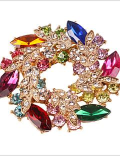 lipsește u placat cu aur de piatră prețioasă diamonade& zirconiu cristal brosa colorat