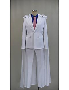 Inspiré par Détective Conan Kid the Phantom Thief Vidéo Jeu Costumes Cosplay Costumes Cosplay Couleur Pleine Blanc Manche LonguesCape /