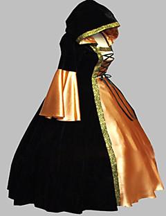 Yksiosainen/Mekot Gothic Lolita Steampunk® Viktoriaaninen Cosplay Lolita-mekot Patchwork Vintage Pitkähihainen Pitkä Pituus Leninki varten
