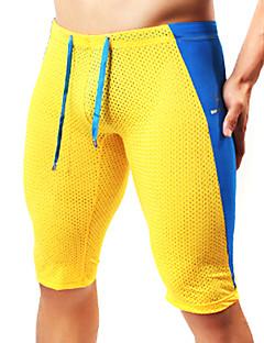 Herre Shorts til jogging Pustende Mykhet Tights Leggings Shorts Bunner til Yoga & Danse Sko Pilates Trening & Fitness Fritidssport Løp