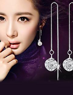 Heren Dames Druppel oorbellen imitatie Diamond Modieus Elegant Kostuum juwelen Sterling zilver Kristal Gesimuleerde diamant Bal Sieraden