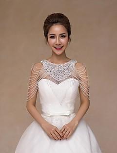 Wraps de nunta Gulere Fără manșon Paiete Nuntă Cristal Paiete Aplică Perle