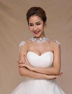 Wraps de nunta Gulere Fără manșon Paiete Nuntă Cristal Aplică Perle