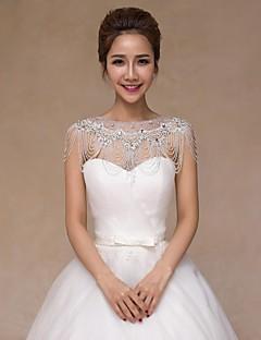 Wraps de nunta Gulere Fără manșon Paiete Nuntă Cristal Perle