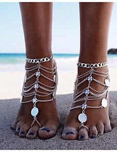 בגדי ריקוד נשים תכשיט לקרסול/צמידים סגסוגת עיצוב מיוחד אופנתי שכבות מרובות ארופאי מותאם אישית ביקיני תכשיטים תכשיטים תכשיטים עבור יומי