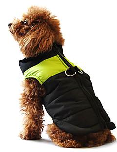 Köpekler Paltolar Vesta Kırmızı Turuncu Sarı Yeşil Mavi Siyah Pembe Köpek Giyimi Kış İlkbahar/Kış Zıt Renkli Günlük/Sade Sıcak Tutma