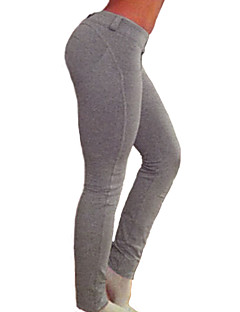 Dla kobiet Jednolity kolor Legging,Bawełna Spandeks Średni/a