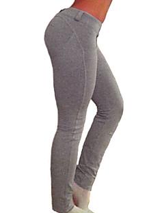 Vrouw Effen kleur Legging,Katoen Spandex Medium