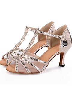 """Personalizabili Damă Latin Mușama Sandale Călcâi Adidași Performanță Cataramă Imprimeu Animal Tubular Toc Flared Negru Argintiu Auriu2"""" -"""